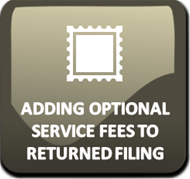 Adding Optional Service Fee to an Returned Filing