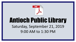 Antioch Public Library Mobile Passport Event 09-21-2019