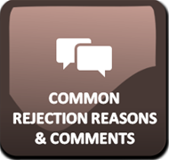 Common Rejection Reasons and Comments