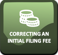 Correcting an Initial Filing Fee