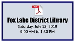 Fox Lake District Library Mobile Passport Event 07-13-2019