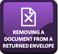 Removing a document from a returned filing